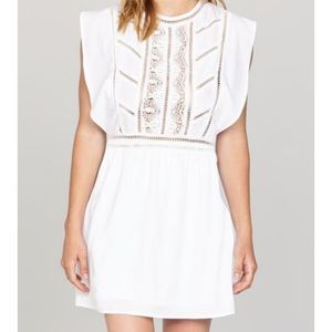 Amuse Society White Crepe Dress - New with Tags
